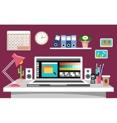 Design workplace vector