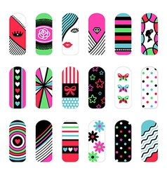 Nail art ornaments vector