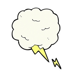 Comic cartoon thundercloud symbol vector