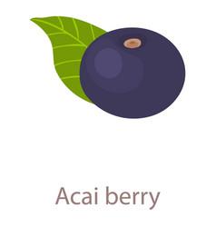 Acai berry icon isometric 3d style vector