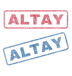 Altay textile stamps vector