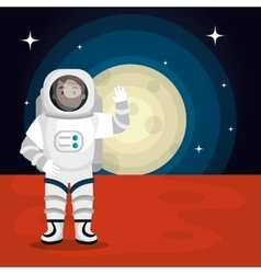 astronaut cartoon space isolated vector image