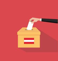 Austria election vote concept with vector