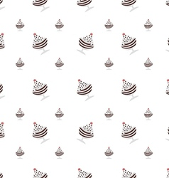 background for chocolate ice cream in cup vector image vector image