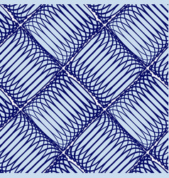 blue abstract seamless pattern with lines vector image vector image