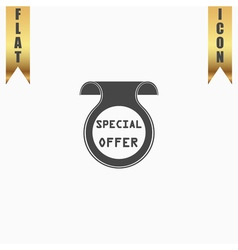 Bookmark with special offer message vector