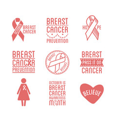 breast cancer awareness month promotional pink vector image vector image