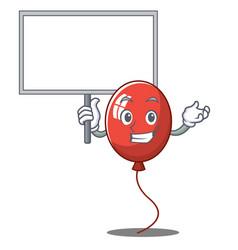 Bring board balloon character cartoon style vector