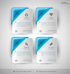 Business infographics template for web design vector image vector image
