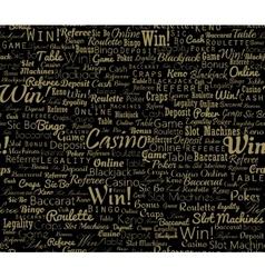Casino typographic seamless vector image