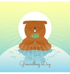 Character marmot vector image