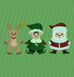 Christmas characters set vector image vector image