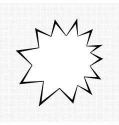 Comic bubble sign vector