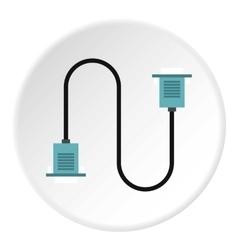 Cord VGA icon flat style vector image