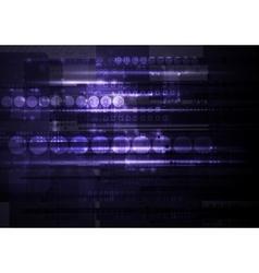 Dark shiny purple tech background vector