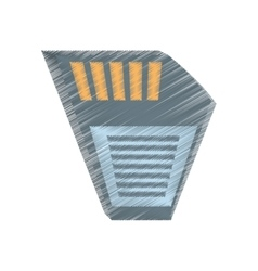 Drawing memory sd card back icon vector