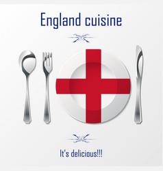 England cuisine cutlery vector