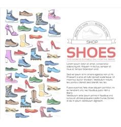 Fashion footwear in sport stylish modern vector
