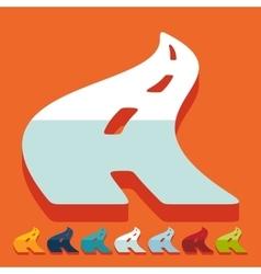 Flat design road vector