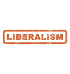 Liberalism rubber stamp vector