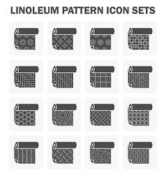 Linoleum icon vector image vector image