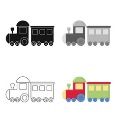 Locomotive cartoon icon for web and vector