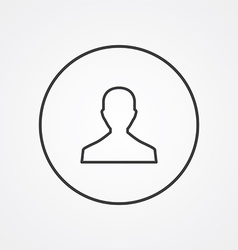 male outline symbol dark on white background logo vector image vector image