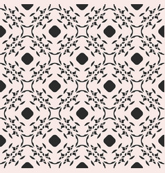 monochrome ornament texture seamless floral vector image vector image