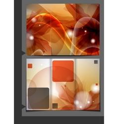 Orange Template For Advertising Brochure vector image