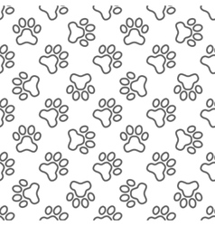 Pet paw pattern - seamless texture vector