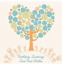 Retro Birthday Card vector image