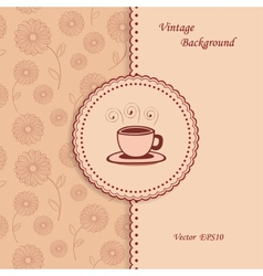 Retro Coffee Background vector image vector image