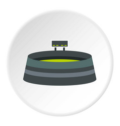 Round stadium with scoreboard icon circle vector