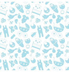 seamless pattern with baby elements Newborn vector image vector image