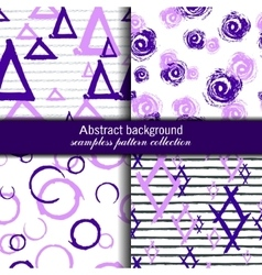 Set endless patterns Seamless modern vector image vector image