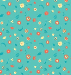 summer flowers pattern vector image
