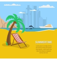 Summertime - square banner vector image vector image