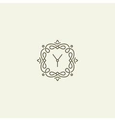 Y monogram template vector image