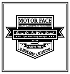 Motorcycle patch vector