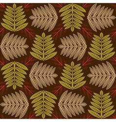 herbal pattern vector image