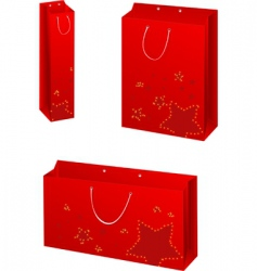Christmas paper bags vector image