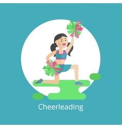 Girl - a cheerleader vector