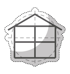 House construction plane isolated icon vector