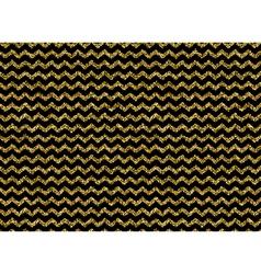 Gold glitter dots zigzag pattern vector image