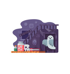 haunted house flat vector image