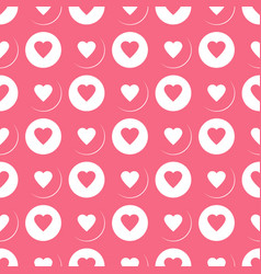 Beautiful seamless pattern with hearts vector