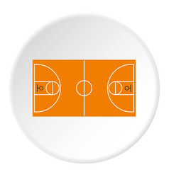 Basketball field icon circle vector