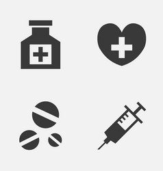 Antibiotic icons set collection of heal vector