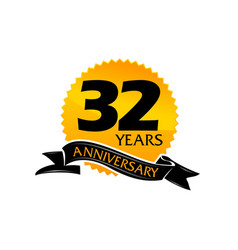 32 years ribbon anniversary vector image