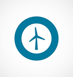 Wind mill bold blue border circle icon vector